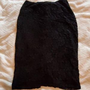 Knee lenth lace skirt